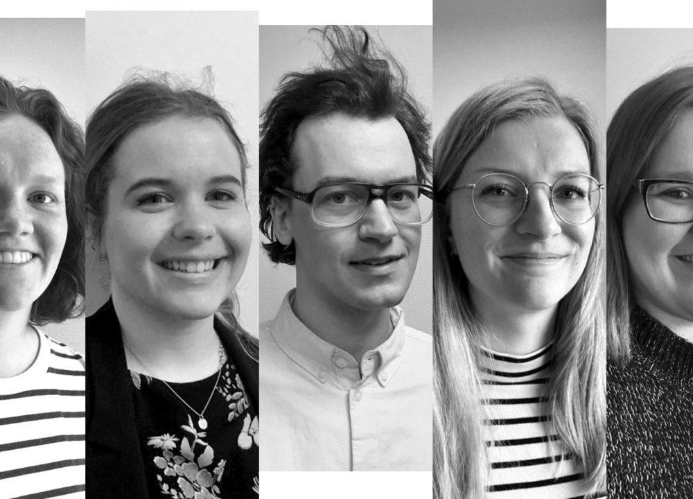 Frå venstre Ida Johanne, Hilde, David, Vilde og Janne Merete. Bildemontasje: Bent Are Iversen